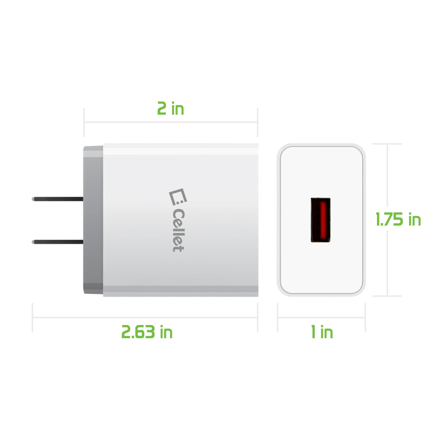 ZTE Blade Max 2s USB Type-C 4x Quick Home Charger White 3.3ft Round