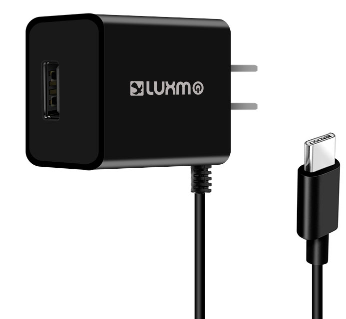 USB Type-C Travel Charger Extra USB Black