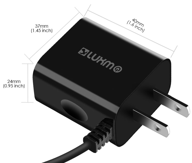 ZTE Blade Spark USB Type-C Travel Charger Extra USB Black
