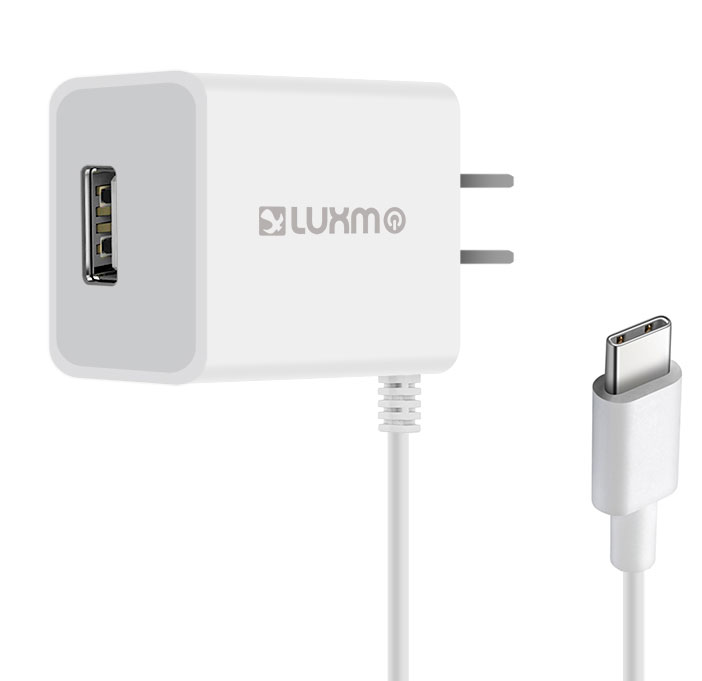 ZTE Max XL USB Type-C Travel Charger Extra USB White