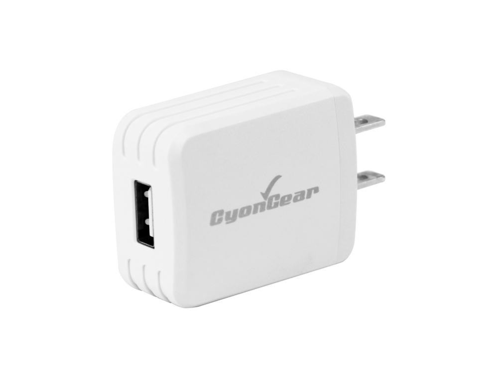 Kyocera Hydro Reach Micro-USB Wall Charger White 4ft Black Braided Cable