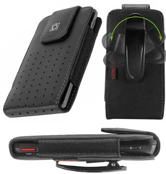 LG K40 Teramo Leather Case Swivel Clip Black